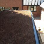 laying down a sedum green roof